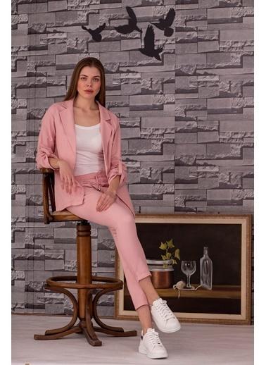 Stamina  Bayan Kolları Aparatlı Ceket-5CK01 Pudra